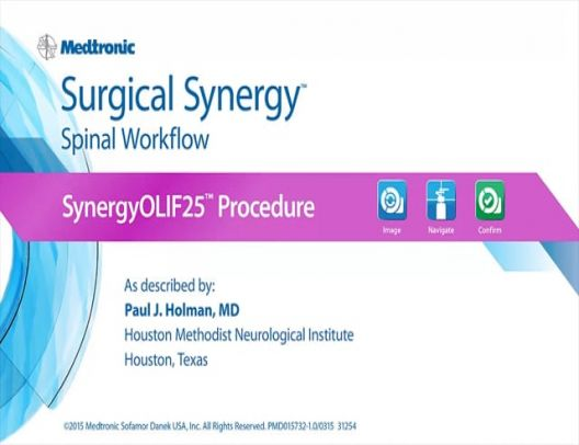 Navigated OLIF25™ (SynergyOLIF25™ ) Procedure